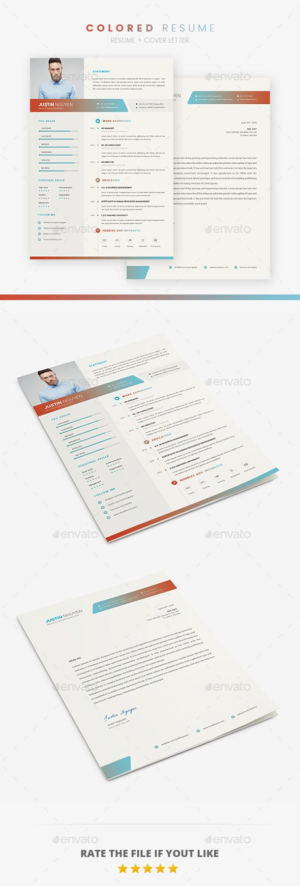 #Resume - Resumes Stationery Download here: https://graphicriver.net/item/resume/19315080?ref=alena994