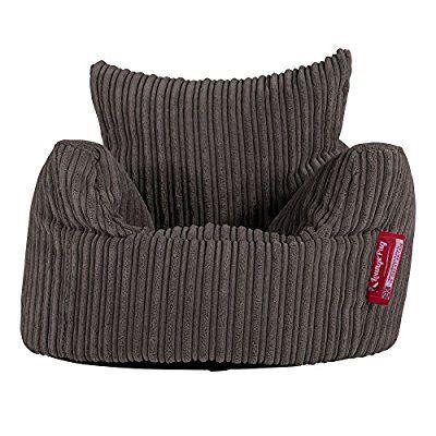 LOUNGE PUG - CORD - CHILDRENS Armchair - Kids Bean Bags UK - Graphite