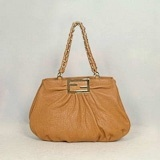 Fendi First Choice for The Season 2295 taupe bubble sheepskin import handbag