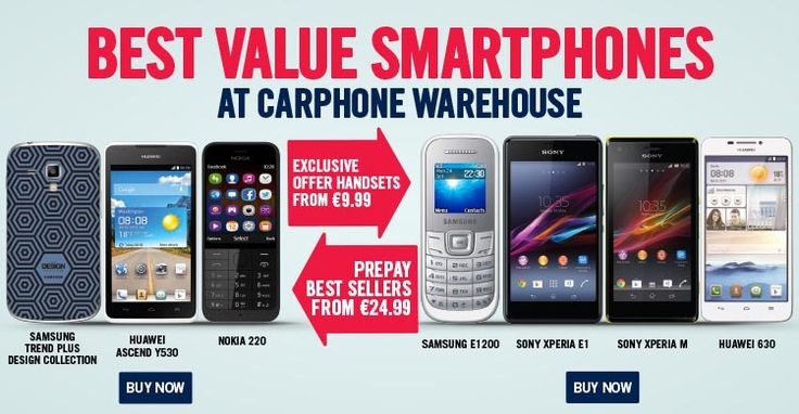 Best Value Smartphones at Carphone Warehouse