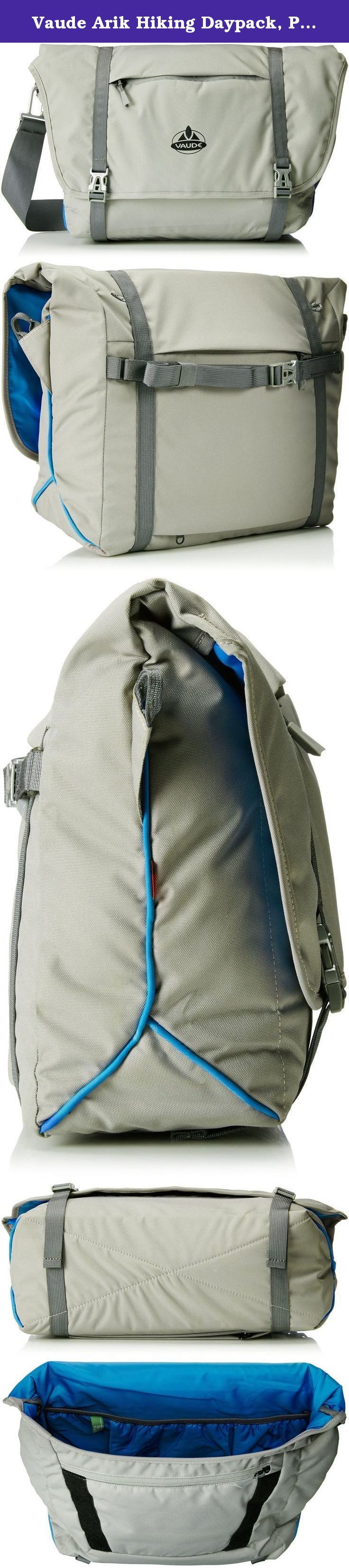 Vaude Arik Hiking Daypack, Pebbles, Medium. Made to fit just right, the Arik shoulder bag is a great choice for your 13.3 inch laptop when you're on the road. The bag's primary material is made in accordance with the blue sign environmental standard.