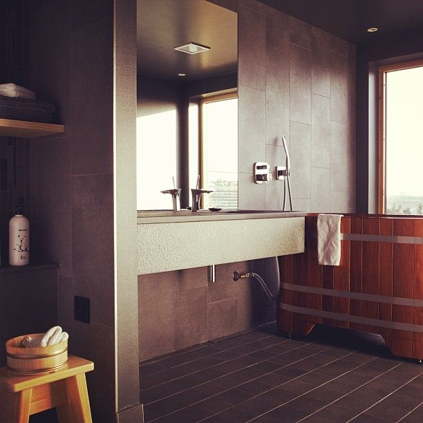 Hotel room #bathroom at our hotel #yasuragi Hasseludden Instagram photo by @Nordic Choice Hotels (Nordic Choice Hotels)