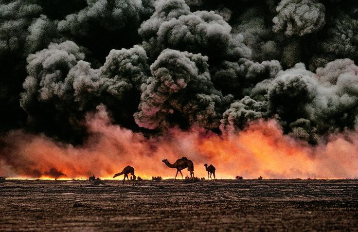 Landscapes form a key part of the Magnum archive. This collection of prints offers a Magnum perspective on the grandeur of planet Earth, available as a museum-quality print for collectors. An oil fire