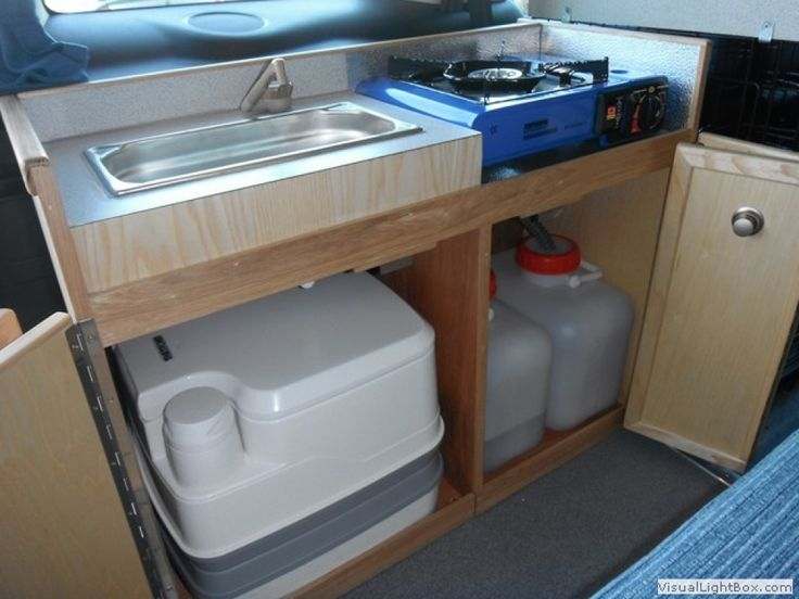 223 best images about camper van conversion on pinterest for Campervan kitchen ideas