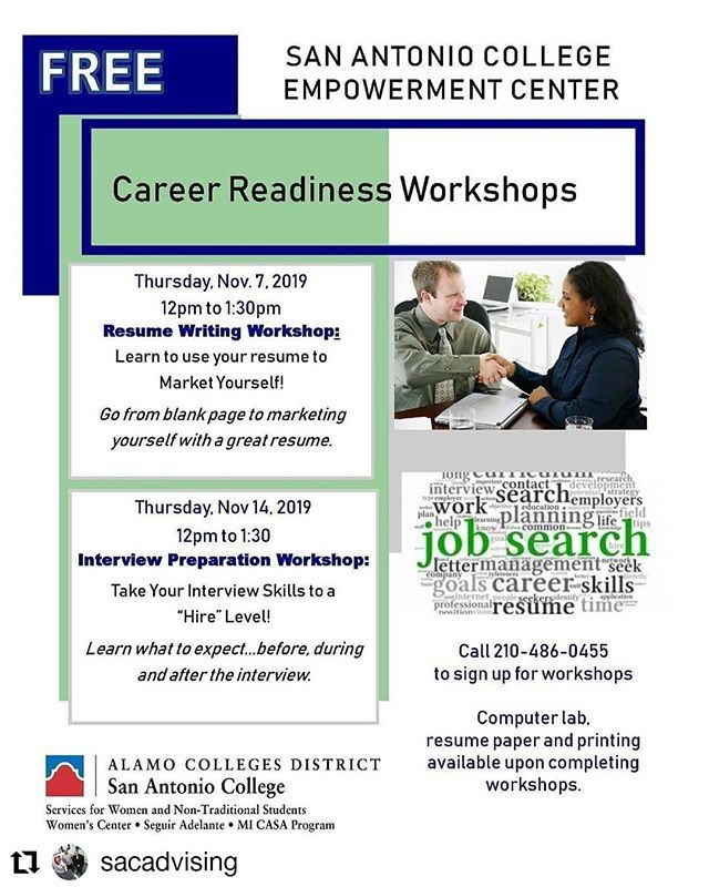 Repost Sacadvising Free Career Readiness Workshops Peep The