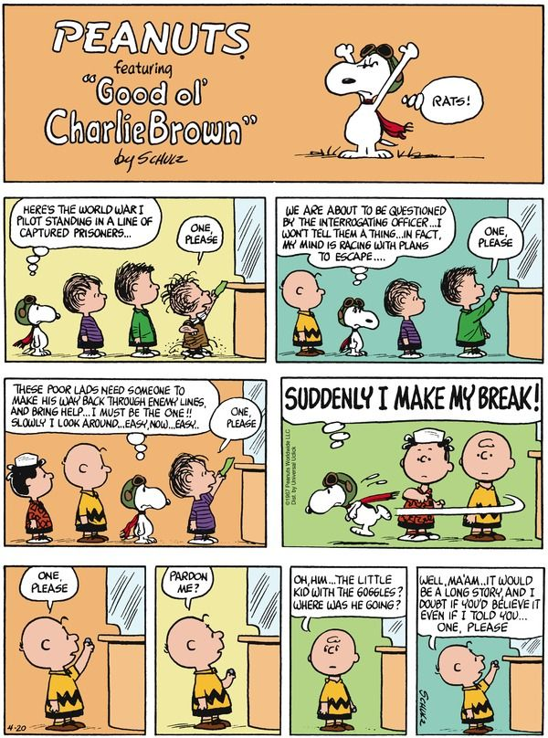 Never underestimate the inner life of your dog. Peanuts for 4/20/2014 | Peanuts | Comics | ArcaMax Publishing