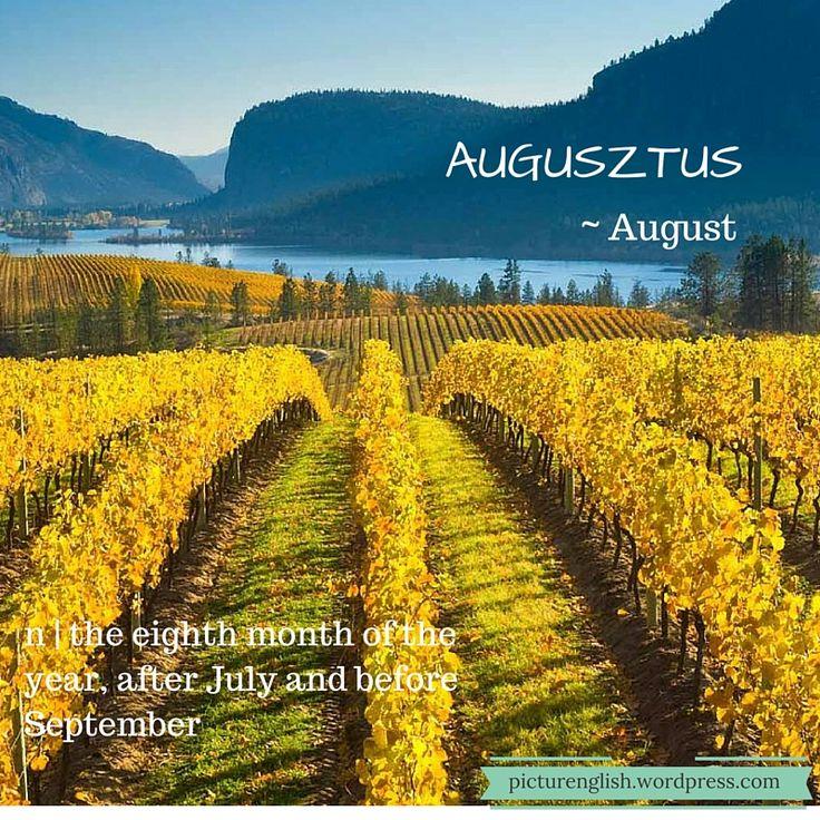 August /Augusztus