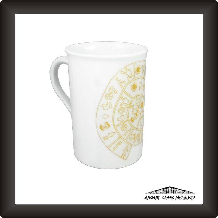 Phaistos Disc, Mug made of Bohemian porcelain.