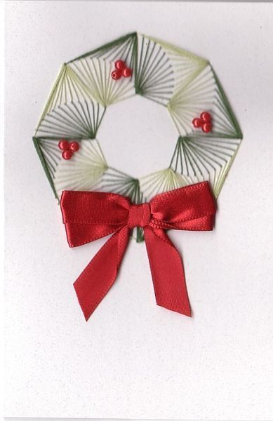Christmas Wreath with free pattern