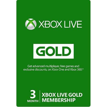 Cyber Monday Microsoft Xbox Live Card (3 Months) for $12.96