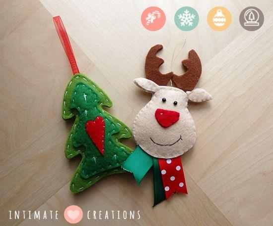 INTIMATE CREATIONS: felt reindeer & christmas tree