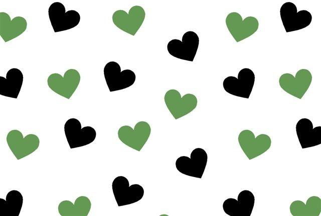 Tricoline Corações Verde e Preto p jogo americano menina