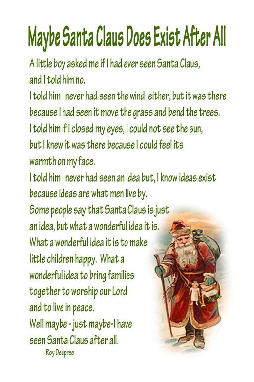 Santa Claus, LOVE this<3  Great way to explain when a kiddo is in doubt and you want the believing to keep going;)