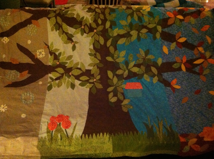 Seasons tree quilt! What an accomplishment!