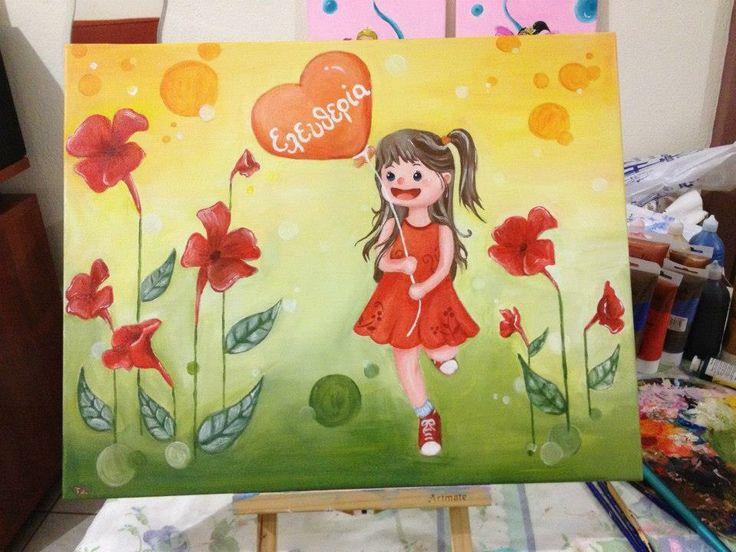 Eleftheria-acrilyc on canvas