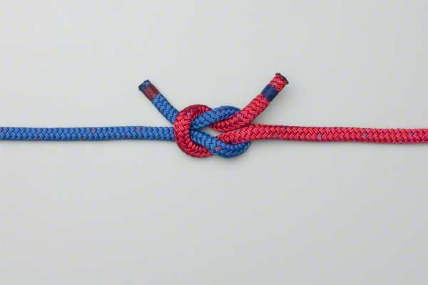 Tie a square knot. (I pinned this 'cause I can't remember stuff!)  Many pinned knot tying instructions are about macrame square knot.  I needed a basic reminder on how to tie a plain basic square knot.