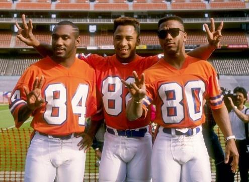 The Three Amigo's-1988  Ricky Nattiel, Vance Johnson and Mark Jackson