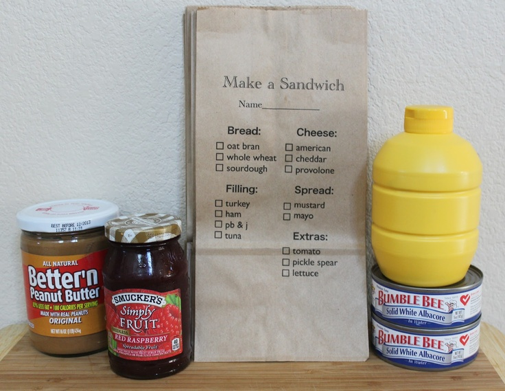 Moore Minutes: Made to Order Sandwich Lunch sacks and other school ideas