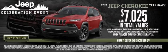 HURRY! This 2017 Jeep Cherokee #Deal is only available until October 2nd! Get yours here: http://www.lebanoncdj.com/ #LebanonOhio #Jeep #WeCan