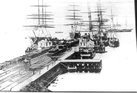 Melbourne docks, 1850s