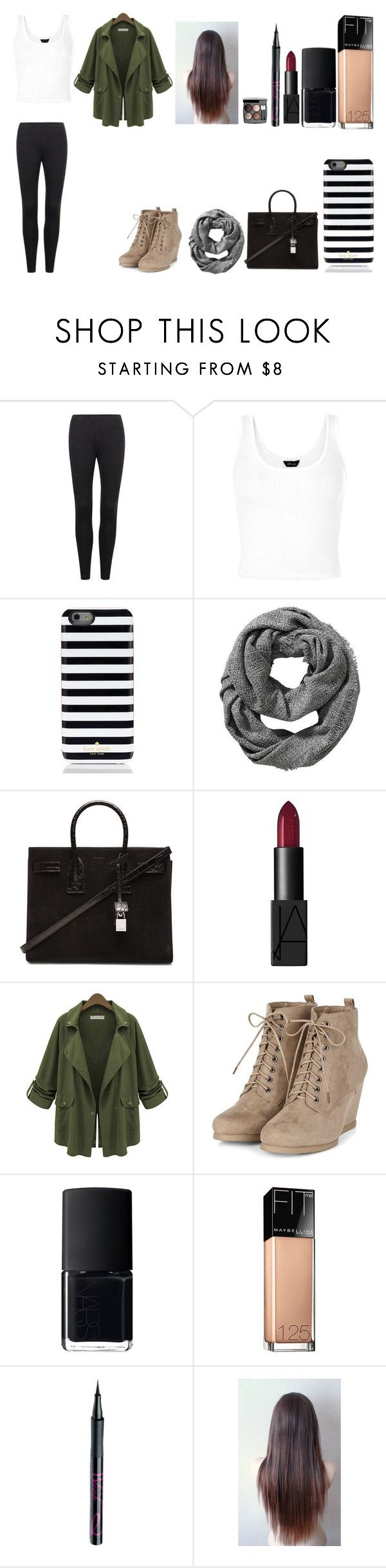 """""""Untitled #364"""" by kalieh092 on Polyvore featuring Kate Spade, Old Navy, Yves Saint Laurent, NARS Cosmetics, Chanel, Maybelline and Barry M"""