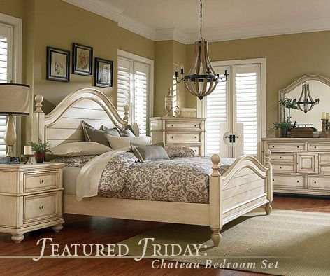 "Have a ""stay-cation"" with the Chateau Bedroom Set! 