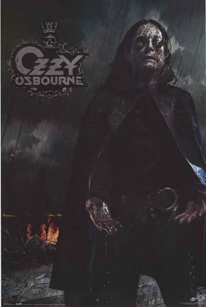 Ozzy Osbourne Black Rain Poster 22x34 – BananaRoad