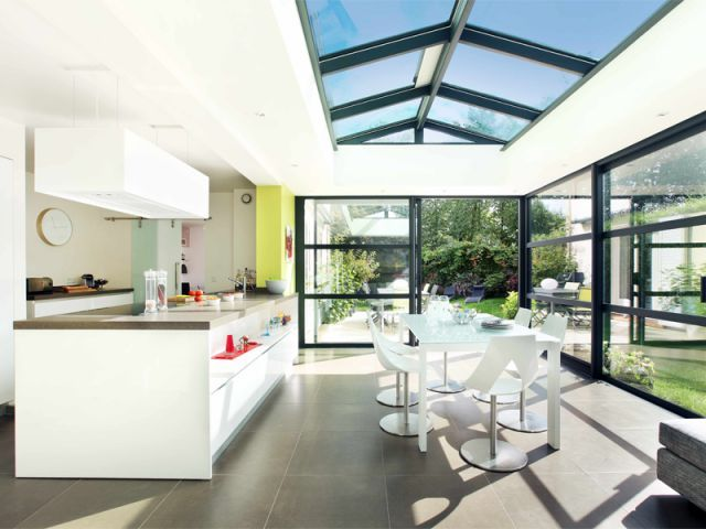 Quand la v randa abrite une cuisine verandas and for Veranda cuisine design