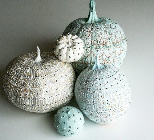 Puffy Paint Pumpkin Painting Ideas