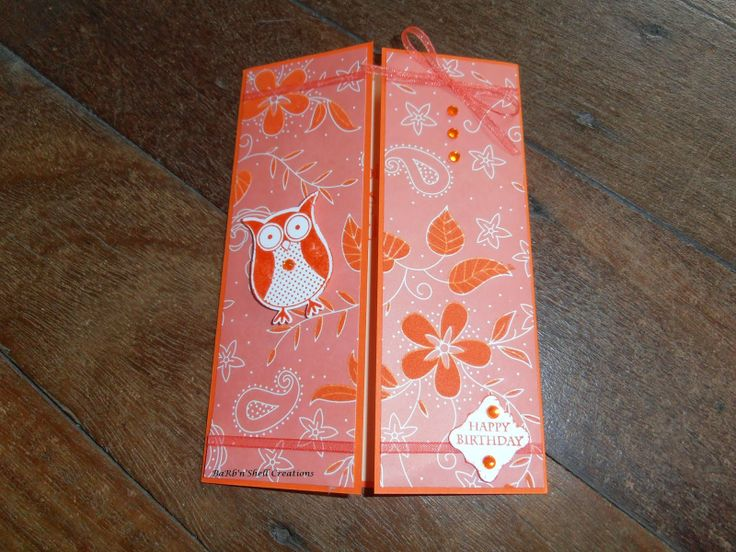 Stampin Up Owl Punch and Punch Bunch - Birthday Card - made by Shell