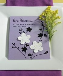 Love Blossoms Favor Card