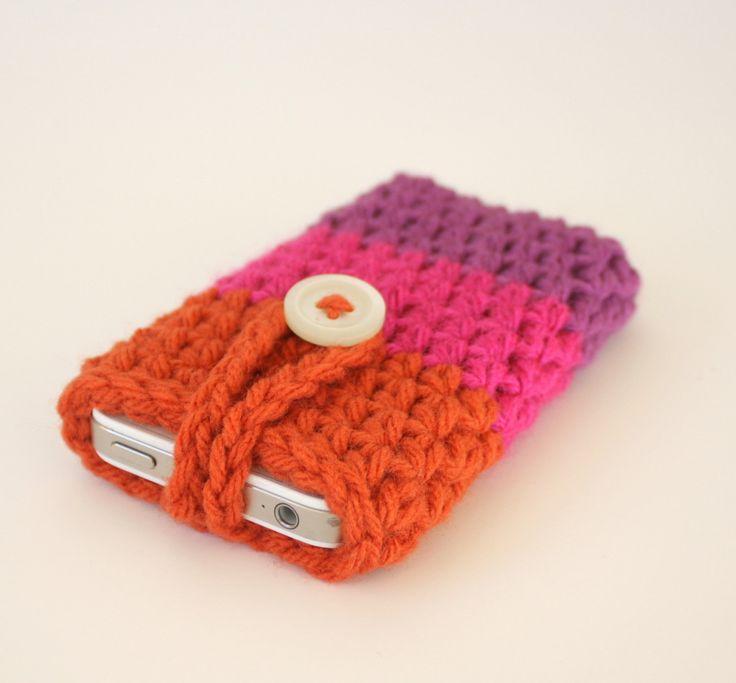 Crochet+iPhone+iPod+Cozy+PATTERN+by+KozyPenguin+on+Etsy,+$4.00