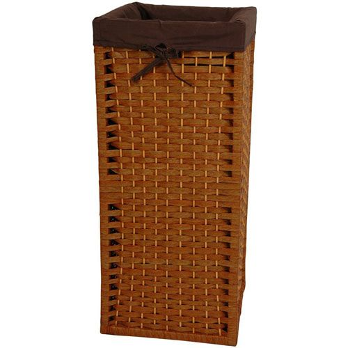 28 Inch Natural Fiber Laundry Hamper Honey, Width - 12 Inches