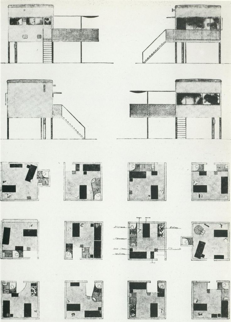 Mikhail Barsch, design for communal housing Moscow, 1928-1930