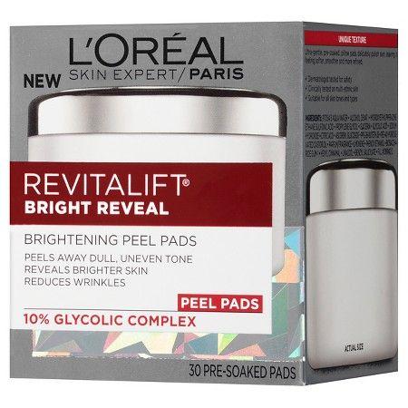 L'Oréal® Paris Revitalift® Bright Reveal Brightening Peel Pads 30 count : Target