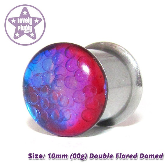 "Quantum Foam (Red) Plug 0g, 00g, 7/16"" / 8mm, 10mm, 11mm ONE Plug Only on Etsy, $12.99"