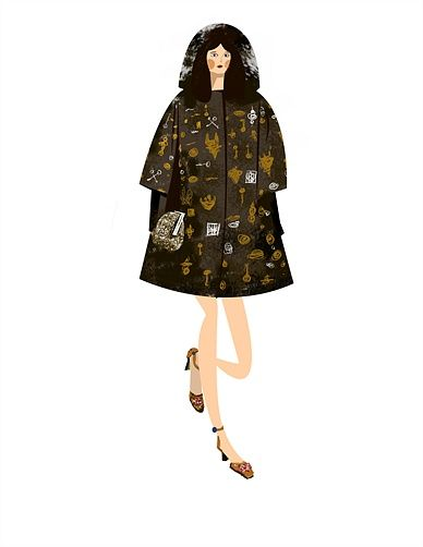 Иллюстрация женщины моды платья
