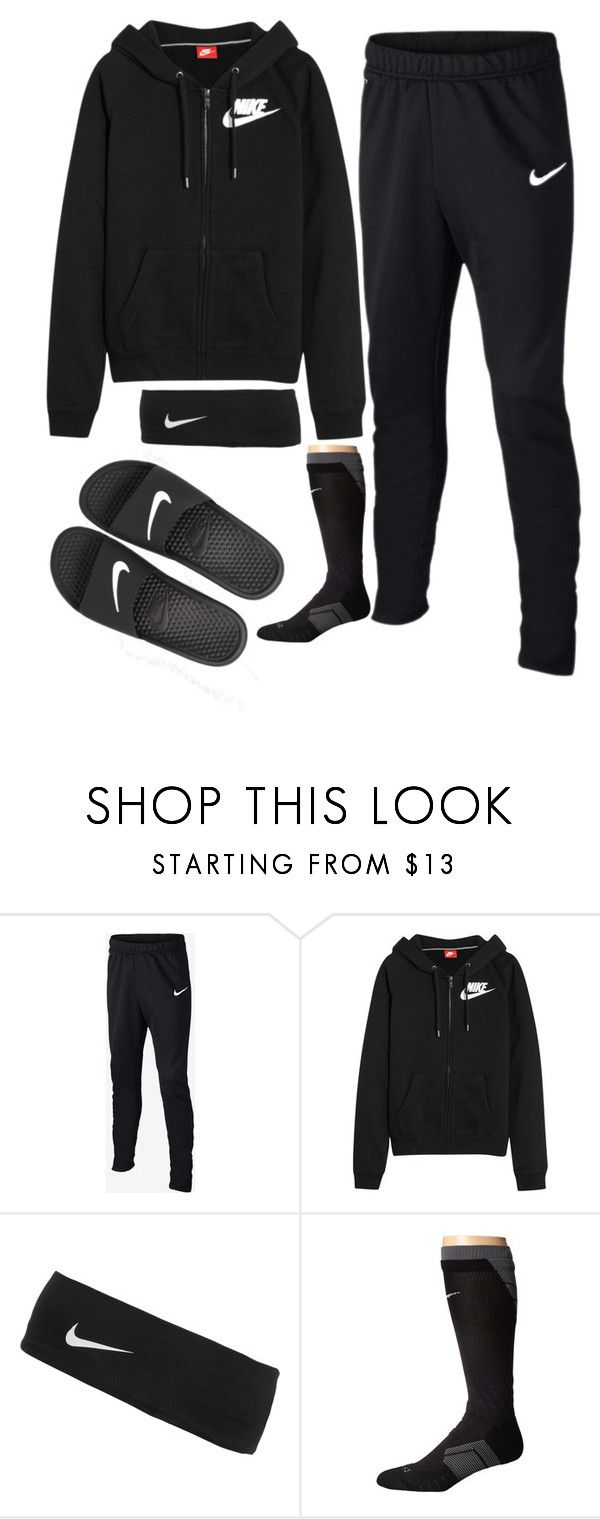 """""""leave me alone pt 2"""" by lowhannah on Polyvore featuring NIKE"""