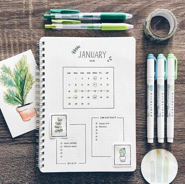 Einfache Bullet-Journal-Ideen zum Organisieren und Erreichen Ihrer ehrgeizigen Ziele