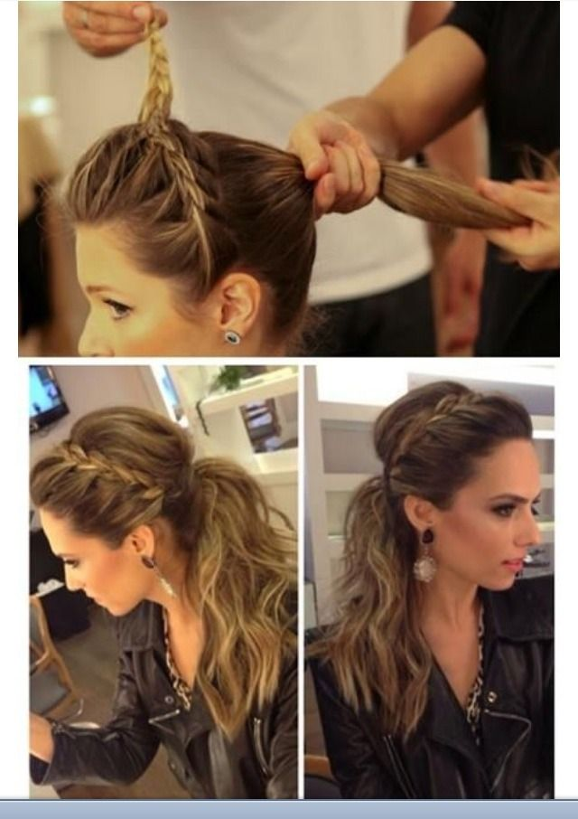 Braided headband ponytail Harrison Salon Spa loves this look, its the perfect…