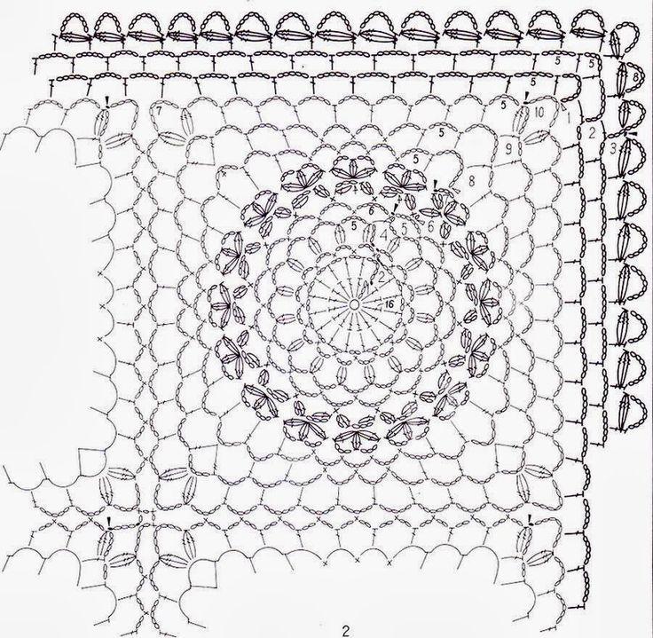 Crochet-Tablecloth-pattern-heklet duk 12 (2).jpg (900×880)