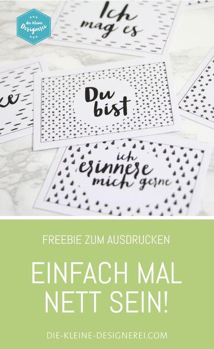 Freebies zum Organisieren deines Alltags - die kleine Designerei: Sets zum Nähen, Buchstaben und viel schwarz-weiss