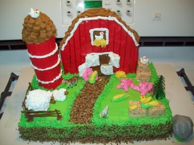 3 D Barn Cakes Bing Images All Things Cake Pinterest