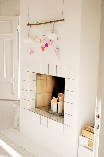 .: Idea, Originals Holidays, Fireplaces, So Pretty, Decor Pieces, Holidays Decor, Christmas Trees, Ornaments Display, Fire Places