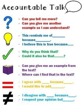 FREE! Accountable talk sentence stems poster.  Print and laminate for your students to always reference.