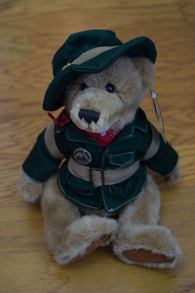 "Ranger Gus talking Teddy Bear, jointed, 12"", NWT #RangerGusandHisForrestFriends"