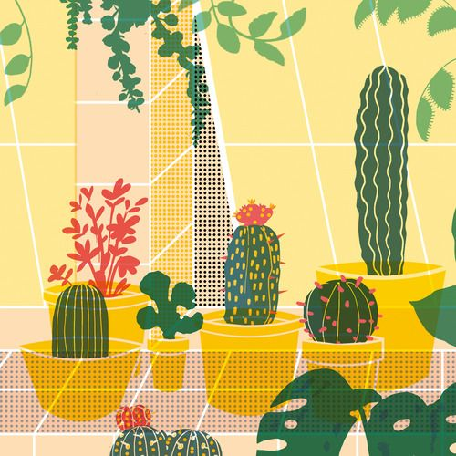 Here's a little preview of the gorgeous succulent-inspired illustration Elena Boils has worked on especially for our 10th edition of Wrap, which is going to print this week. Looking forward to sharing...