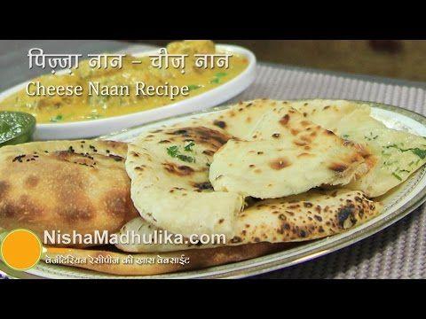 Cheese Naan recipes - How to Make Cheese Stuffed Naan on Tawa