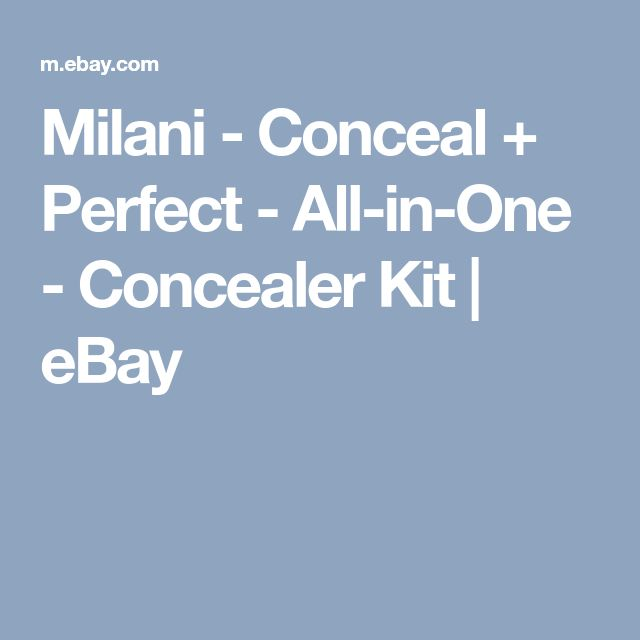 Milani - Conceal + Perfect - All-in-One - Concealer Kit   eBay