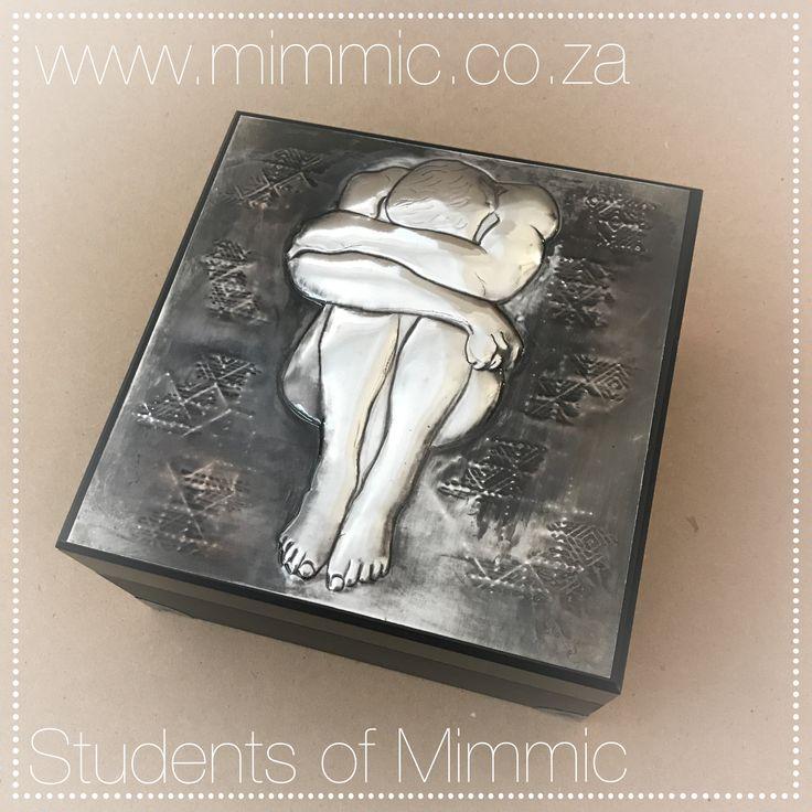 Keepsake box by Adele from our Wednesday class. www.mimmic.co.za